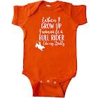Inktastic Bull Rider Like Daddy Childs Infant Creeper, Boy's, Size: One size, Orange