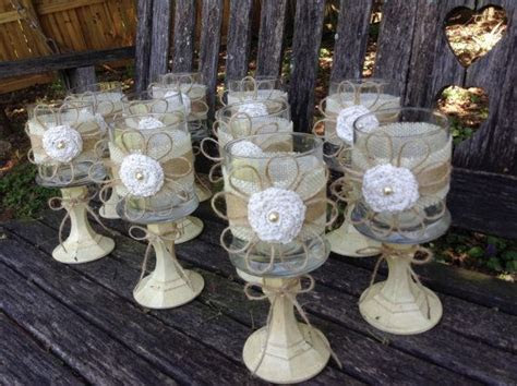 Rustic Wedding Centerpieces / Set of 5 / Shabby Chic