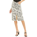 Atm Womens Zebra Pencil Skirt