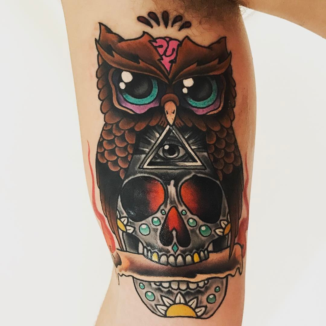 95+ Best Photos of Owl Tattoos — Signs of Wisdom (2019)