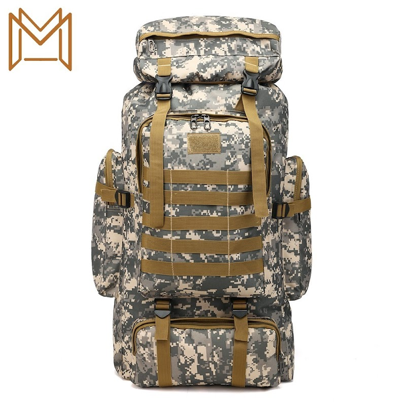 NEW Outdoors Waterproof Record 80l Capacity Camouflage Both Shoulders Package Backpack Luggage Package