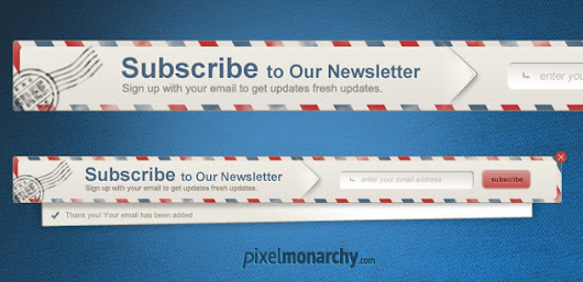 Free PSD: Newsletter Envelope Signup Pop Up Form – Free PSD | Pixel Monarchy