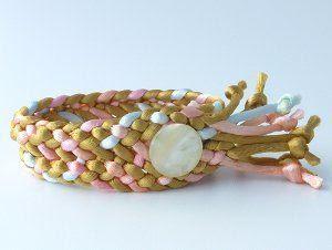 Flat Kumihimo Cuff Bracelet