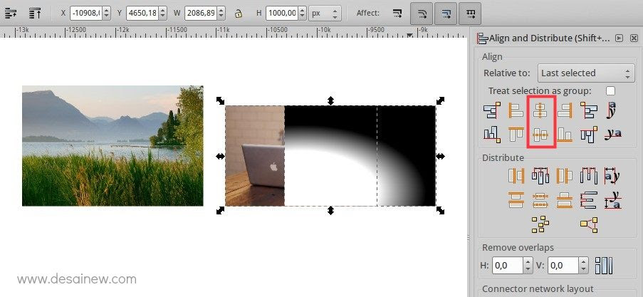 Tutorial Fade Two Images Together in Inkscape or Blending two images