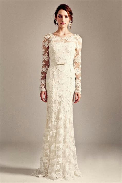 Gorgeous, Ivory, Long Sleeve Guipure Lace Column/Sheath