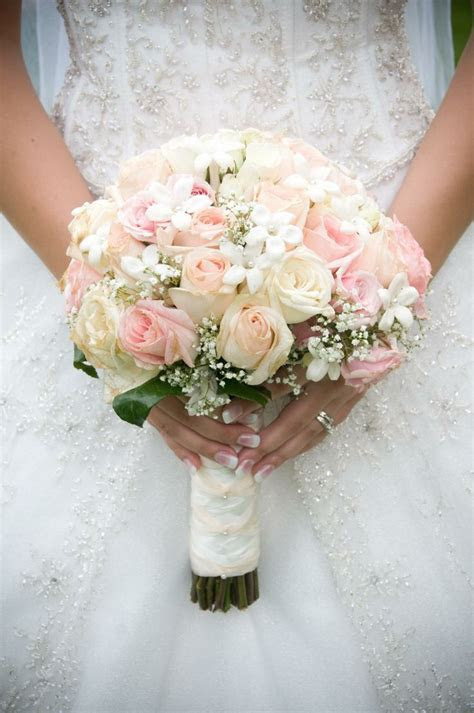 Light Pink Rose Bridal Bouquets   Svatba   Wedding
