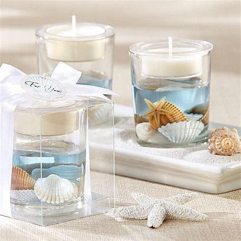 Ocean Seashell Gel Tea Light Candle Holder Favor