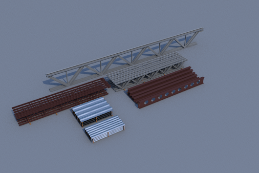 Construction steels - //Pack 1// 3D Model .3ds .fbx .dae .dwg - CGTrader.com