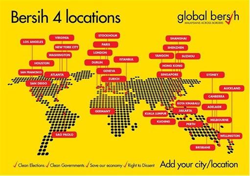 Berish 4.0 Locations - Global Bersih