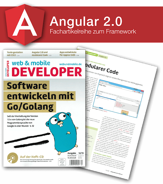 Fachartikelreihe: Angular 2.0 in der Web und Mobile Developer | Johannes' Blog