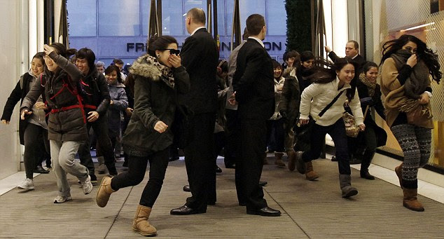 Every shopper for themselves! The shoppers swarmed Selfridges and dashed to the shelves to spend their money