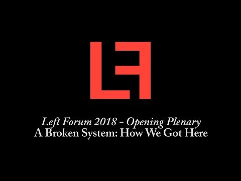 Left Forum 2018 - Livestream Playlist