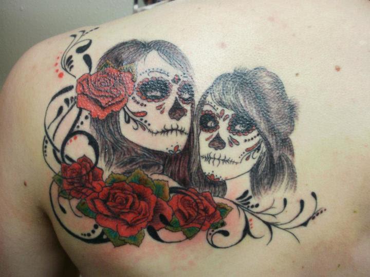 Female Sugar Skull Tattoo Tattoo Bytes