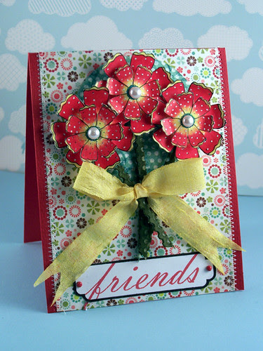 3 dotted flowers-- friends