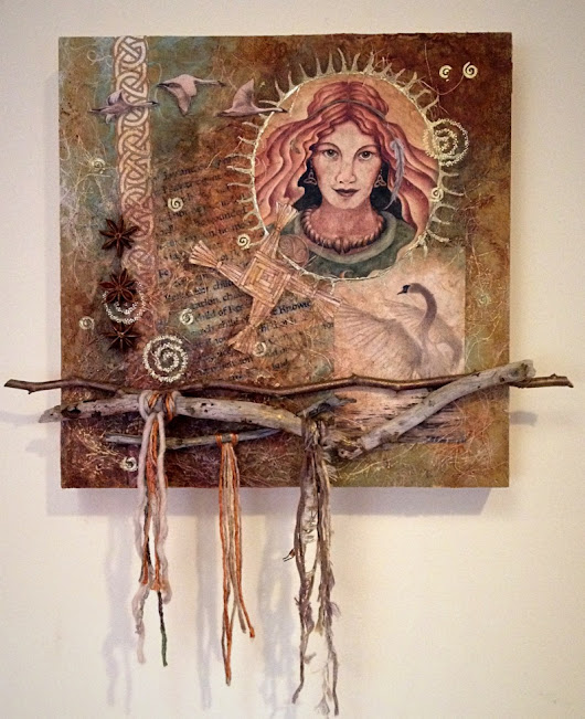 Lady of the Radiant Flame: Create a Brigid Prayer Painting in Mixed Media Collage