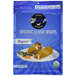 Wrawp 1858869 5.3 oz Warp Organic Veggie Flatbread Original - Case of 8
