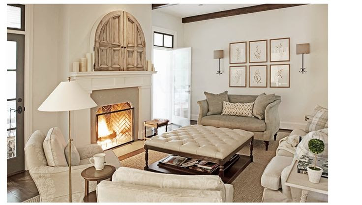 Doors above Fire place - Hidden TV Rachel Halvorson Design