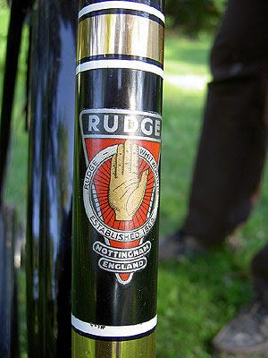 Rudge Downtube badge 1