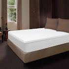 Comfort Revolution 1.5 inch Memory Foam Topper, Full, White