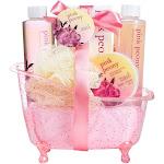 Freida and Joe - Pink Peony Spa Bath Gift Set in a Tub