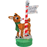 """36"""" Oscillating Lighted Rudolph at the North Pole Christmas Outdoor Decoration by Christmas Central"""