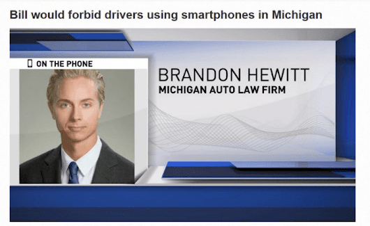 Attorney Brandon Hewitt talks distracted driving law on WZZM Gd Rapids
