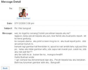 saifulreply.thumbnail Death threat from Saiful Bukhari Azlan !!