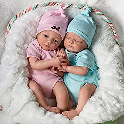Lifelike Twin Baby Doll Set By Donna Lee: Madison And Mason from The Ashton-drake Galleries