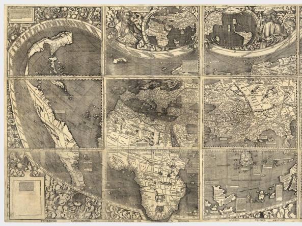 La mappa Universalis Cosmographia di Martin Waldseemüller del 1507