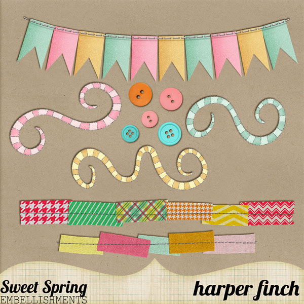 Sweet Spring Embellishments by harperfinch
