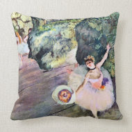 Dancer with a Bouquet of Flowers by Edgar Degas throwpillow