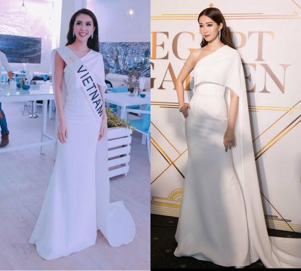 'Vòng eo 53 cm' Tường Linh kém sang khi mặc lại 'váy cũ' của Đặng Thu Thảo - Ảnh 10.