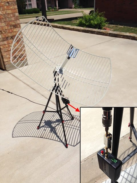 Receiving GOES Weather Satellite HRIT with an SDRplay and 2.4 GHz WiFi Grid Antenna - rtl-sdr.com