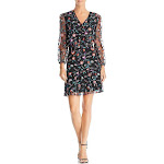 SAM EDELMAN Womens Embroidered Mesh Cocktail Dress, Red Pansy