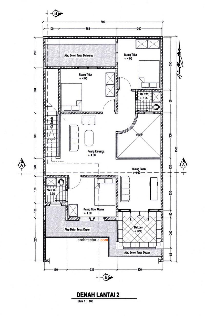 Desain Rumah Dan Ruang Usaha Ruko Rukan 2 Lantai PT
