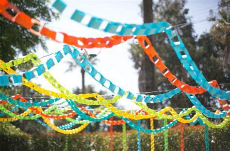Backyard Colorful Paper Chain Wedding: Leslie   Nolan