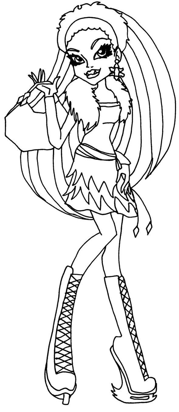 Abbey Monster High Coloring Pages At Getdrawingscom Free For