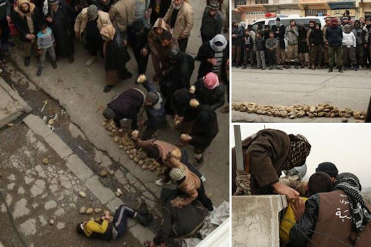 ISIS barbarians throw gay man off roof and pelt his corpse with rocks