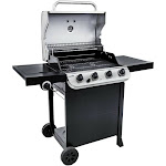 Char-Broil Stainless Black Performance 4 Burner Cart 425 Gas Grill