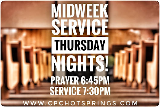 From Easter to Pentecost Sunday, our midweek service has been moved from Wednesday night to Thursday night. Use this opportunity to invite someone!