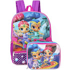 Shimmer and Shine Backpack with Insulated Lunchbox, Turquoise / Blue, One Size