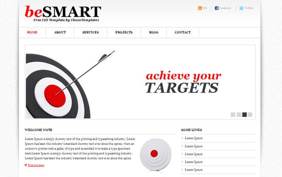 BeSmart free CSS template