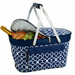 Blue Collapsible Insulated Basket