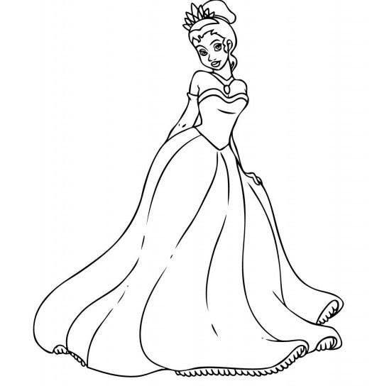 Immagini Da Colorare Tiana La Principessa Disney Disegni Da Colorare