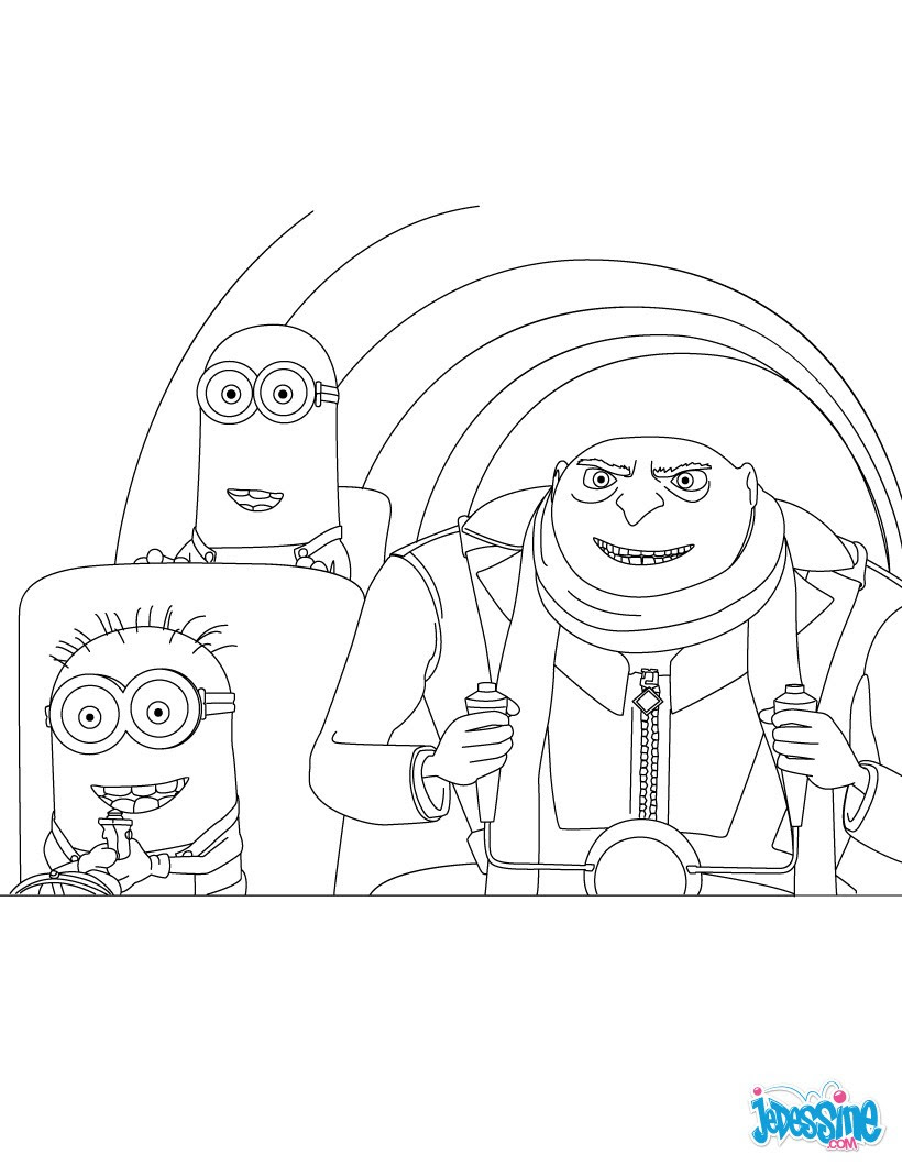 fabulous coloriage minions with dessin colorier