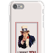 'Uncle Sam I Want You To Revolt' iPhone Case/Skin by MeanProgressive