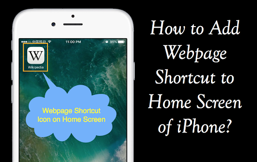 How to Add Webpage Shortcut in Home Screen of iPhone? » WebNots