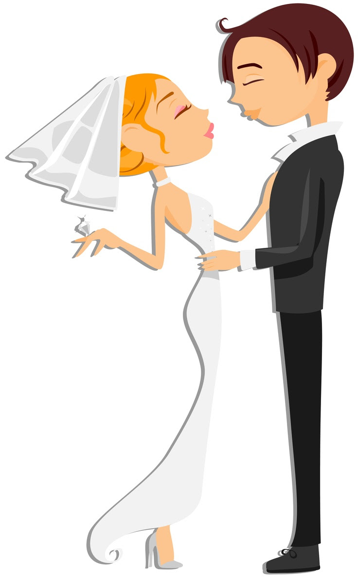 Cartoon Wedding Couple