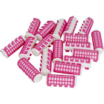 Evelots 18 Heated Hair Curlers Simple Effective Advanced Hold Pink-23mm Diameter