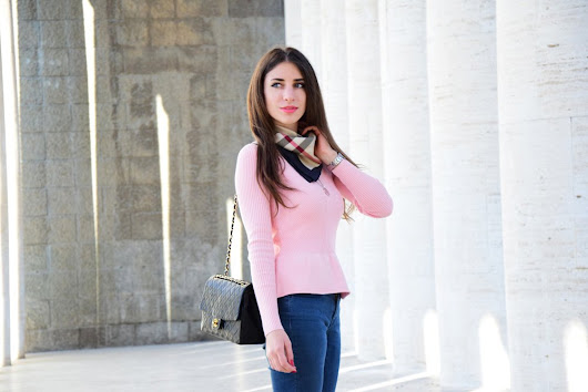 Pink and Black Outfit, Fashion Blogger Roma - Fleur d'Hiver